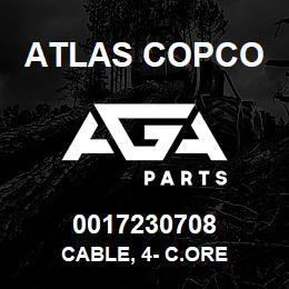 0017230708 Atlas Copco CABLE, 4- C.ORE | AGA Parts