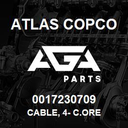 0017230709 Atlas Copco CABLE, 4- C.ORE | AGA Parts