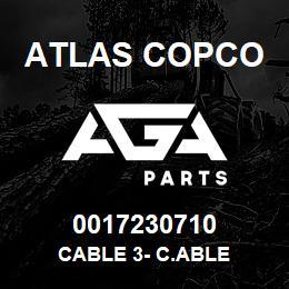 0017230710 Atlas Copco CABLE 3- C.ABLE | AGA Parts