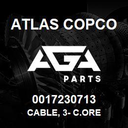 0017230713 Atlas Copco CABLE, 3- C.ORE   AGA Parts