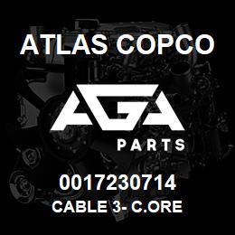 0017230714 Atlas Copco CABLE 3- C.ORE | AGA Parts