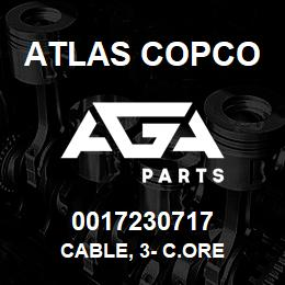 0017230717 Atlas Copco CABLE, 3- C.ORE | AGA Parts