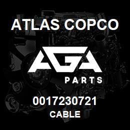 0017230721 Atlas Copco CABLE | AGA Parts