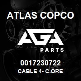0017230722 Atlas Copco CABLE 4- C.ORE | AGA Parts