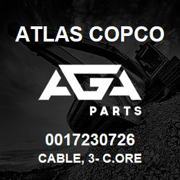 0017230726 Atlas Copco CABLE, 3- C.ORE | AGA Parts