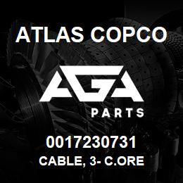 0017230731 Atlas Copco CABLE, 3- C.ORE | AGA Parts