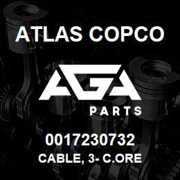 0017230732 Atlas Copco CABLE, 3- C.ORE | AGA Parts