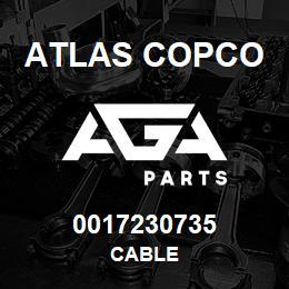 0017230735 Atlas Copco CABLE | AGA Parts