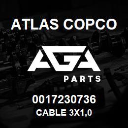 0017230736 Atlas Copco CABLE 3X1,0 | AGA Parts