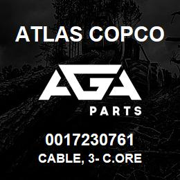 0017230761 Atlas Copco CABLE, 3- C.ORE | AGA Parts