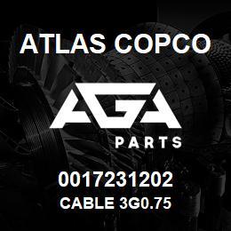 0017231202 Atlas Copco CABLE 3G0.75 | AGA Parts