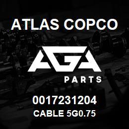 0017231204 Atlas Copco CABLE 5G0.75 | AGA Parts