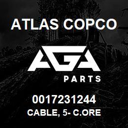 0017231244 Atlas Copco CABLE, 5- C.ORE   AGA Parts