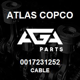 0017231252 Atlas Copco CABLE | AGA Parts