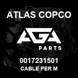 0017231501 Atlas Copco CABLE PER M | AGA Parts