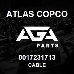 0017231713 Atlas Copco CABLE | AGA Parts