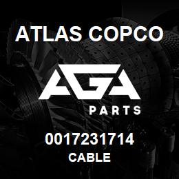 0017231714 Atlas Copco CABLE | AGA Parts