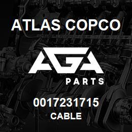 0017231715 Atlas Copco CABLE | AGA Parts
