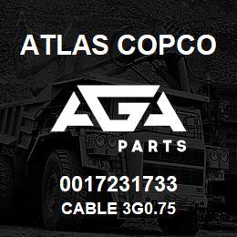 0017231733 Atlas Copco CABLE 3G0.75   AGA Parts