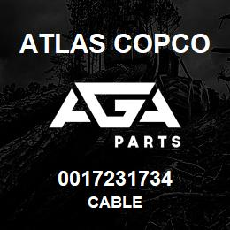 0017231734 Atlas Copco CABLE | AGA Parts