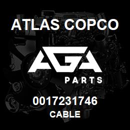 0017231746 Atlas Copco CABLE | AGA Parts