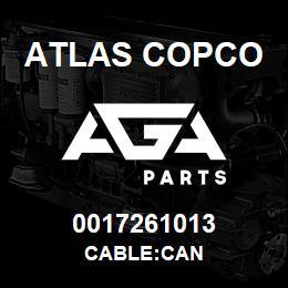0017261013 Atlas Copco CABLE:CAN | AGA Parts