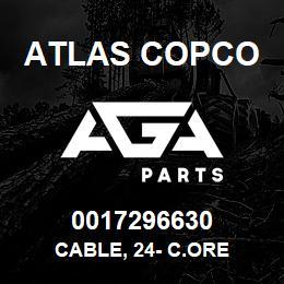 0017296630 Atlas Copco CABLE, 24- C.ORE | AGA Parts