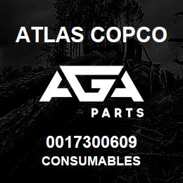 0017300609 Atlas Copco CONSUMABLES | AGA Parts