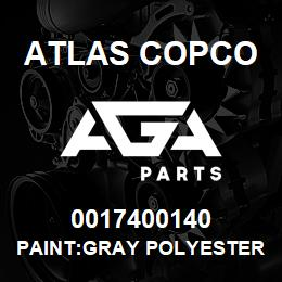 0017400140 Atlas Copco PAINT:GRAY POLYESTER POWDER | AGA Parts