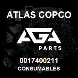 0017400211 Atlas Copco CONSUMABLES | AGA Parts