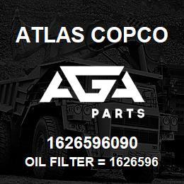 1626596090 Atlas Copco OIL FILTER = 1626596000 | AGA Parts
