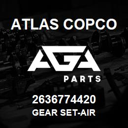 2636774420 Atlas Copco GEAR SET-AIR | AGA Parts