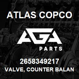 2658349217 Atlas Copco VALVE, COUNTER BALANCE | AGA Parts