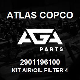 2901196100 Atlas Copco KIT AIR/OIL FILTER 4000H | AGA Parts