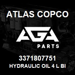 3371807751 HYDRAULIC OIL 4 L BIO - 3371807751 - Atlas Copco