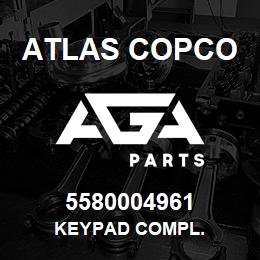 5580004961 Atlas Copco KEYPAD COMPL. | AGA Parts