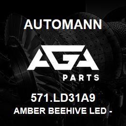 571.LD31A9 Automann Amber Beehive LED - 2"