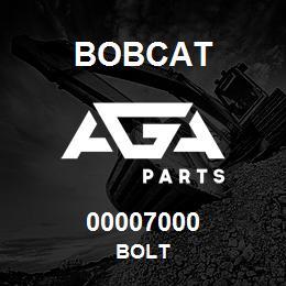 00007000 Bobcat BOLT | AGA Parts