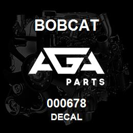 000678 Bobcat DECAL