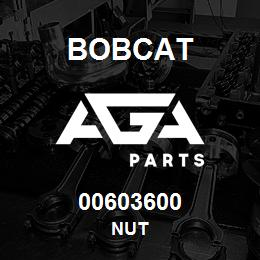 00603600 Bobcat NUT | AGA Parts