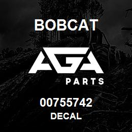00755742 Bobcat DECAL