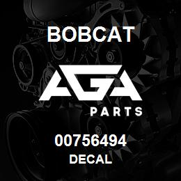 00756494 Bobcat DECAL