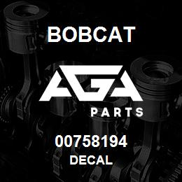 00758194 Bobcat DECAL