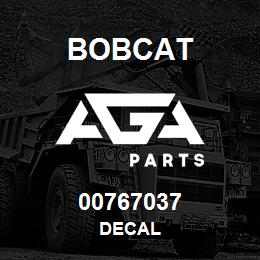 00767037 Bobcat DECAL