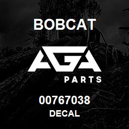 00767038 Bobcat DECAL
