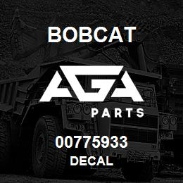 00775933 Bobcat DECAL