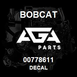 00778611 Bobcat DECAL | AGA Parts