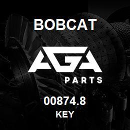 00874.8 Bobcat KEY | AGA Parts