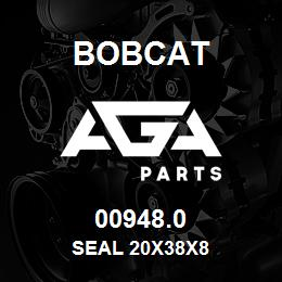 00948.0 Bobcat SEAL 20X38X8 | AGA Parts