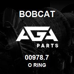00978.7 Bobcat O RING | AGA Parts